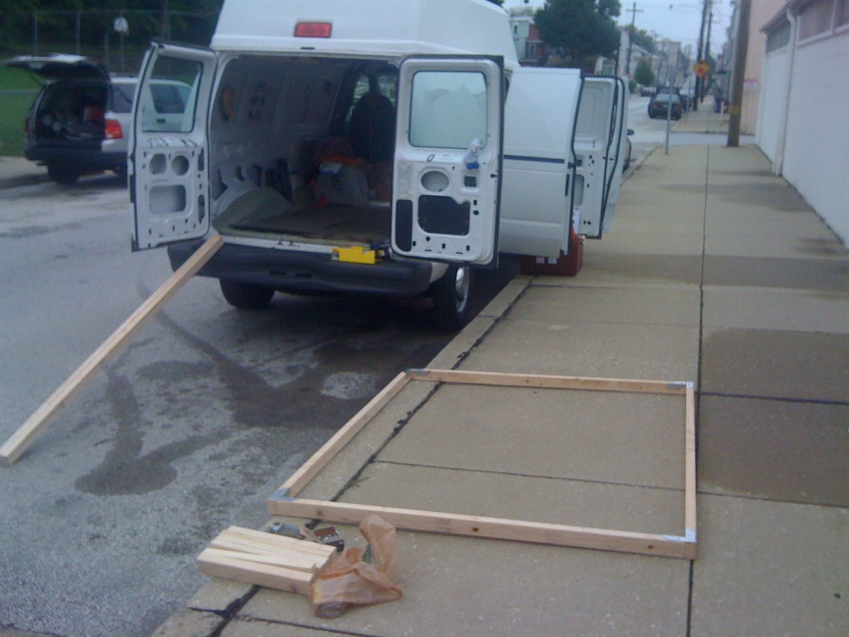 How To Build A Wooden Bedframe In A Van Down By The River