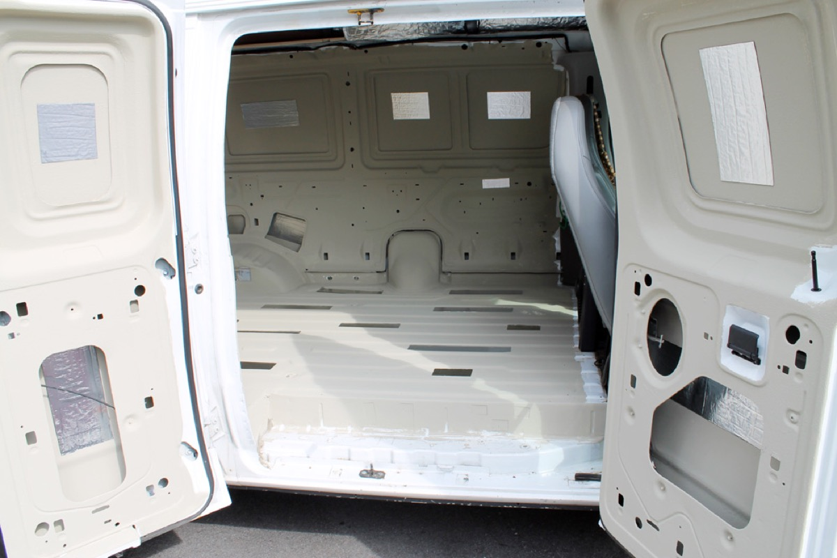 add sound and heat resistance to your van with diy. Black Bedroom Furniture Sets. Home Design Ideas