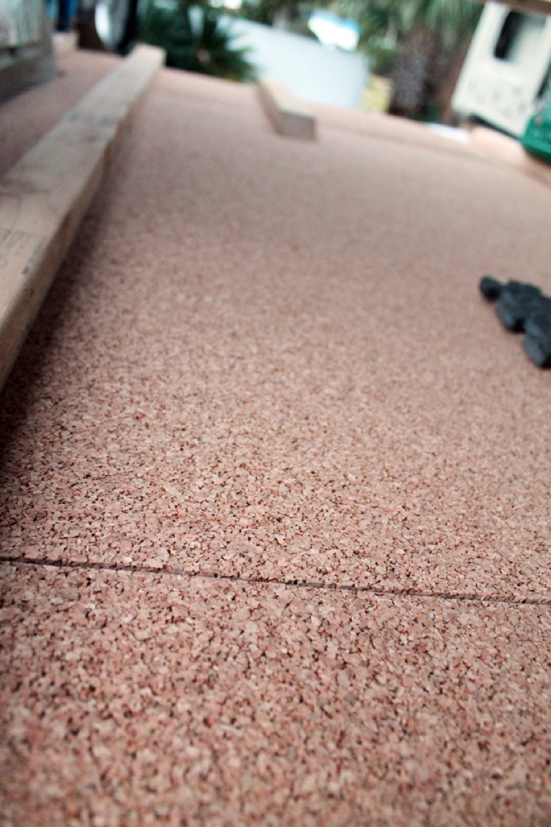 Cork Underlayment for Van Floor